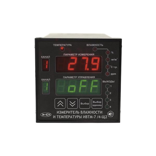 Фото 2 - ИВТМ-7/4-Щ2 стационарный 4-канальный термогигрометр в щитовом исп..