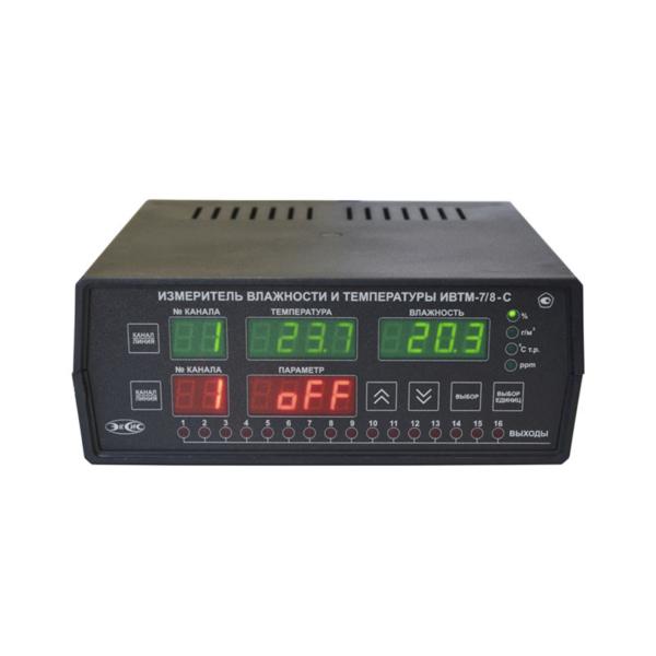 Фото 2 - ИВТМ-7-C-YР-ZА стационарный многоканальный термогигрометр.