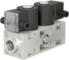 Фото 2 - ВН двойной двухпозиционный клапан газовый электромагнитный нормально-закрытый с автоматическим взводом.