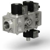 Фото 7 - ВН двойной трехпозиционный клапан газовый электромагнитный нормально-закрытый с автоматическим взводом.