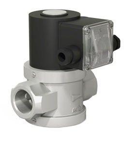 Фото 2 - ВН двухпозиционный (алюминиевый) клапан газовый электромагнитный нормально-закрытый с автоматическим взводом.