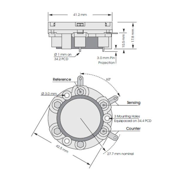 3SF/F CiTiceL сенсор на диоксид серы (SO2) электрохимический