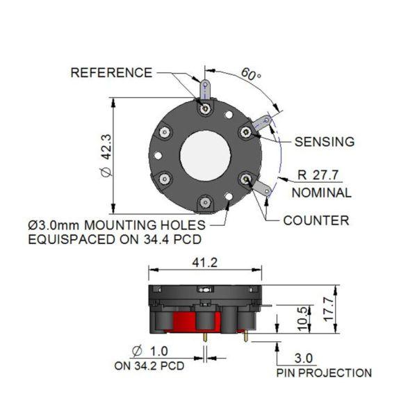 3E/F CiTiceL сенсор на оксид углерода (CO) электрохимический