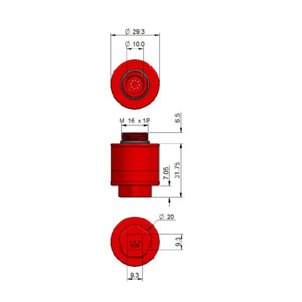 AO2 CiTiceL сенсор на кислород (O2) электрохимический
