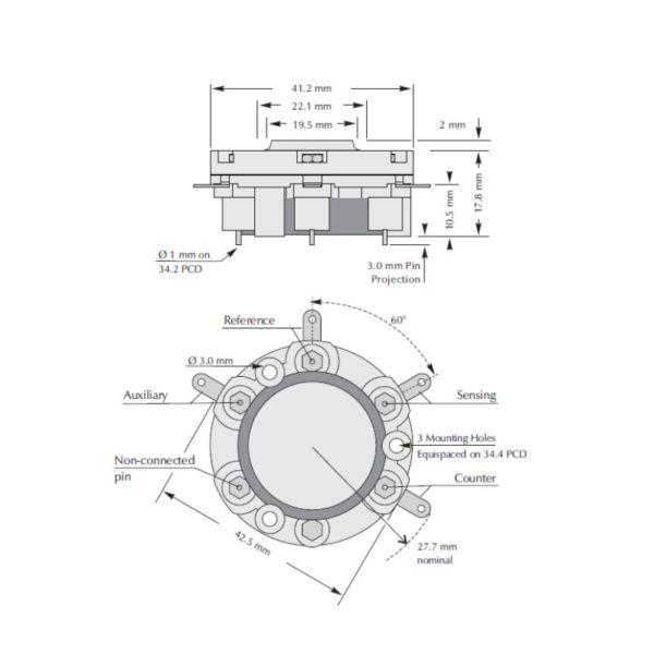 A3E/F CiTiceL сенсор на оксид углерода (CO) электрохимический