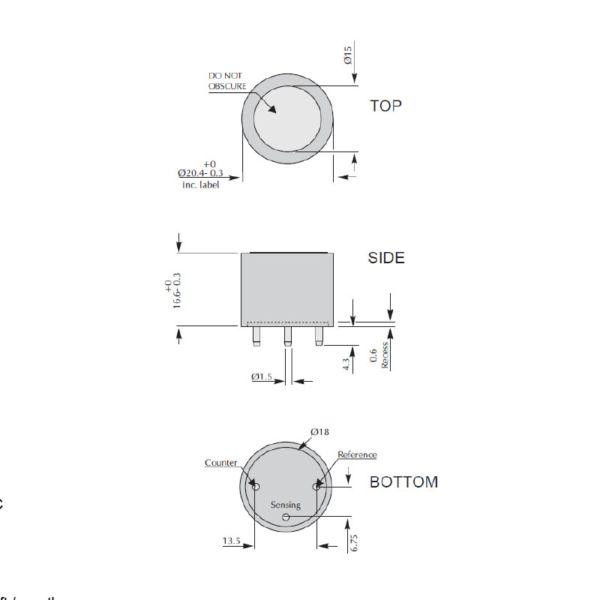 4NT CiTiceL сенсор на оксид азота (NO) электрохимический