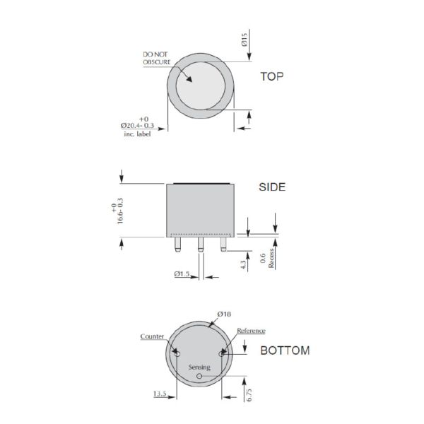 4ND CiTiceL сенсор на диоксид азота (NO2) электрохимический