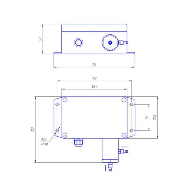 Газосигнализатор ИГС-98 модификация Д исполнение 021 габаритные размеры