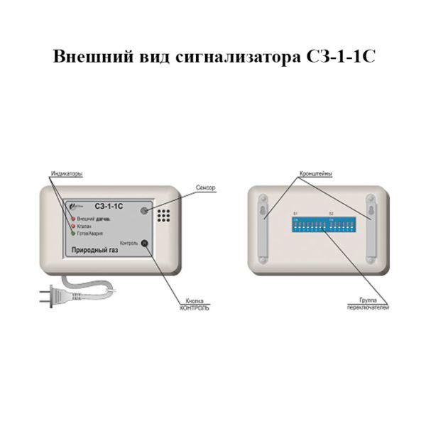 Внешний вид сигнализаторов СЗ-1-1С