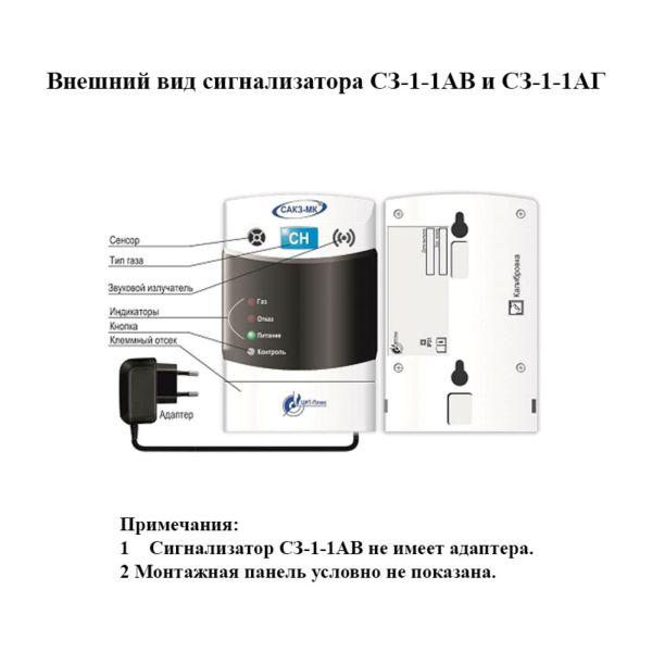 Внешний вид сигнализаторов СЗ-1А